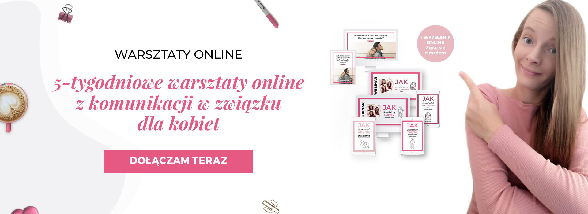 5-tygodniowe warsztaty online z komunikacji w związku dla kobiet
